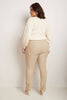 Curvy Woman Modern Straight Leg Pant with Tummy Control