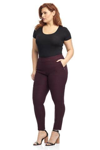 Curvy Tummy Control Work Pants with Real Pockets