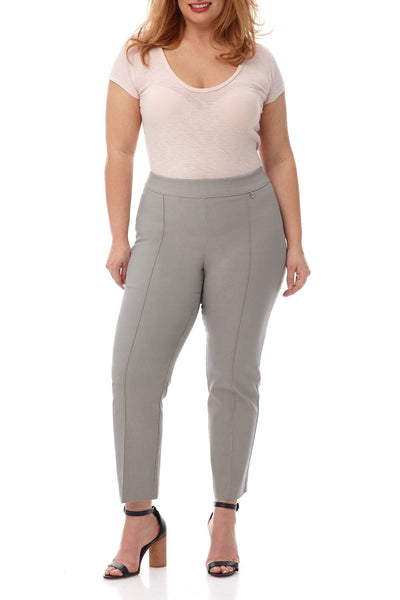 Rekucci Curvy Slimming Ankle Pant with Tummy Control