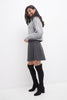 Knit Skater Skirt with Wide Waistband