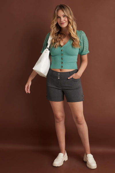 "Pull-on 5"" Dressy Shorts with Real Pockets"