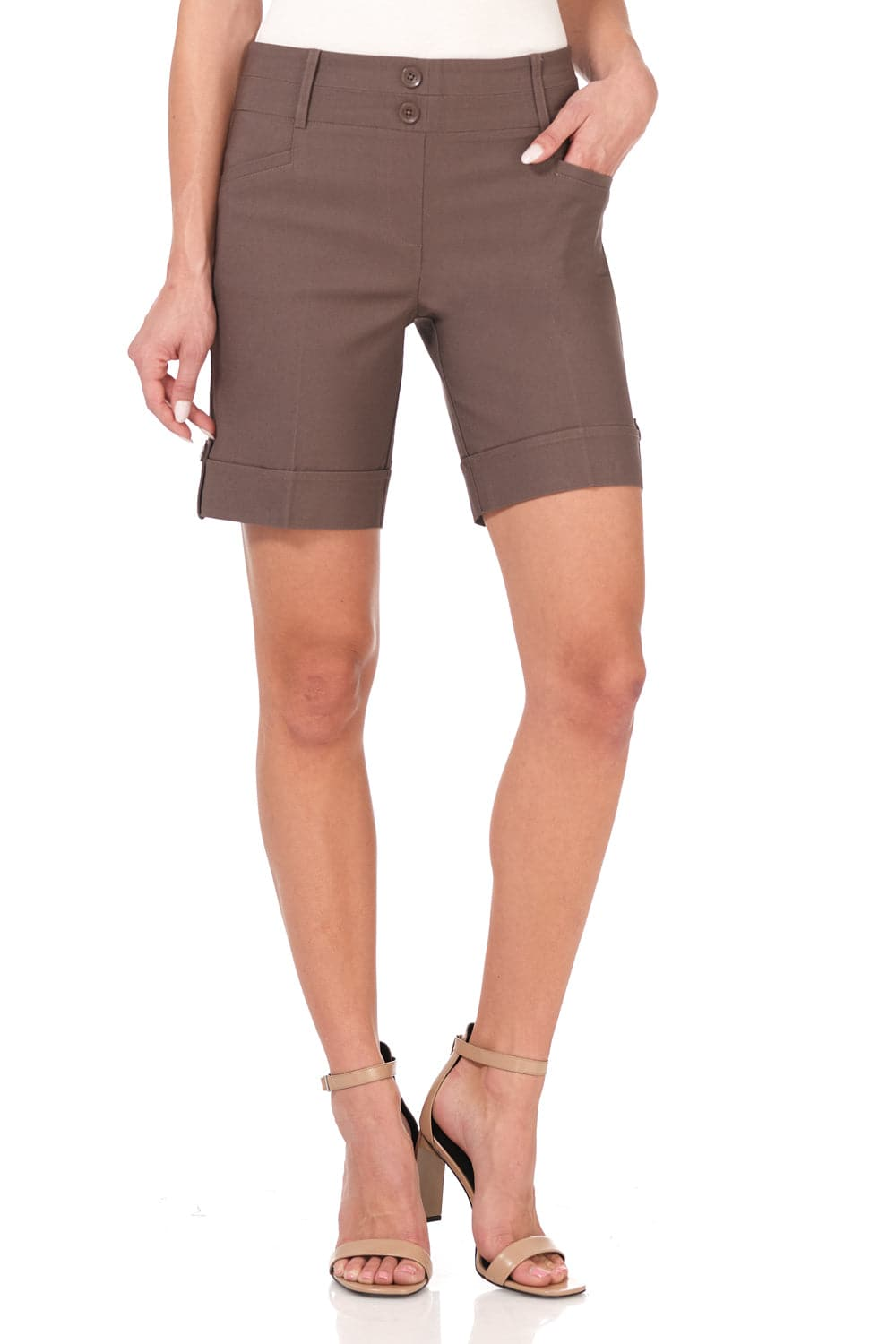 "Women's 8"" Classic Shorts with Stitched Cuff"