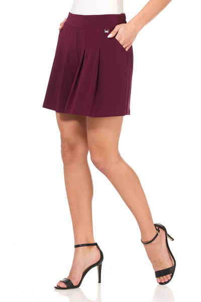 Comfy Collection Dressy Shorts with Flippy Wide-cut Design