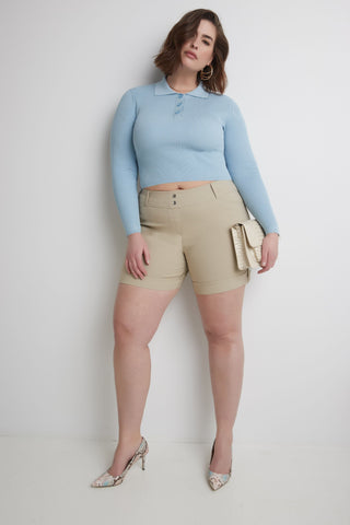 "Curvy Plus Size 6"" Shorts with Slimming Cuff"