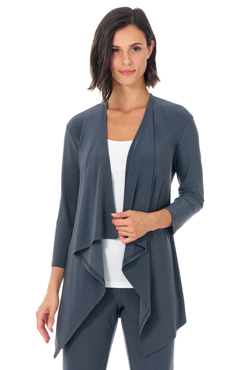 Comfy Collection Throw Over Jacket with 3/4 Sleeve