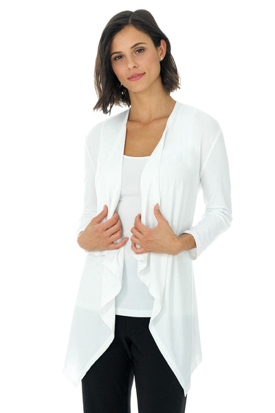 Travel in Rekucci Style - Women's Essential Fluid Throw Over Jacket