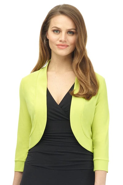Soft Knit Rounded Hem Stretch Bolero Shrug
