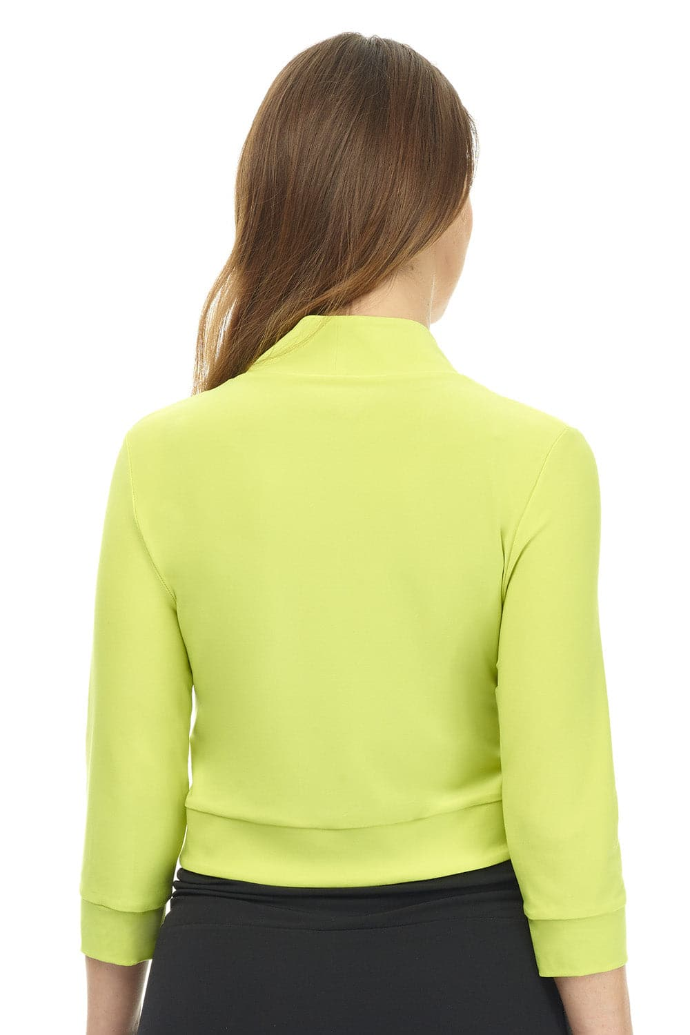 Soft Knit Bolero Shrug with Rounded Hem