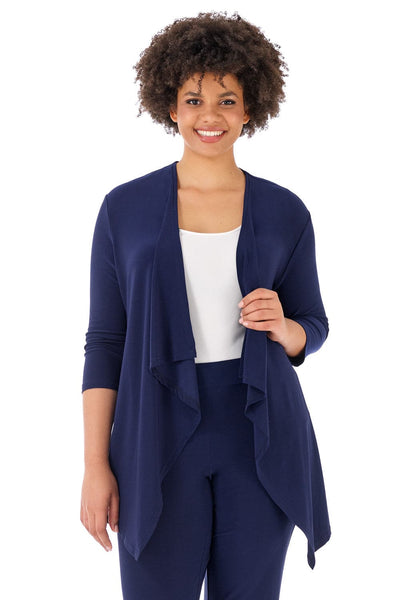 Travel-in-Style Plus Size Throw Over Jacket