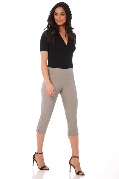 Secret Pocket Capris with Wide Waistband
