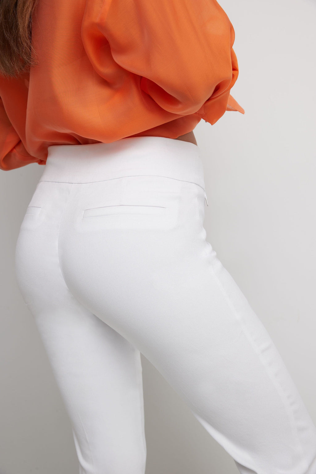 Ease into Comfort Straight Leg Capri with Tummy Control and Secret Pocket