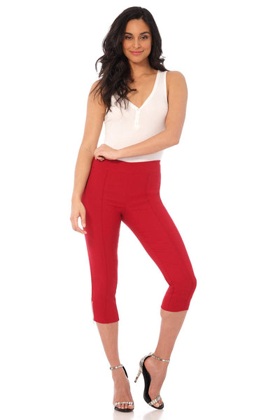 Slimming Capri with Zipper Detail at the Hem