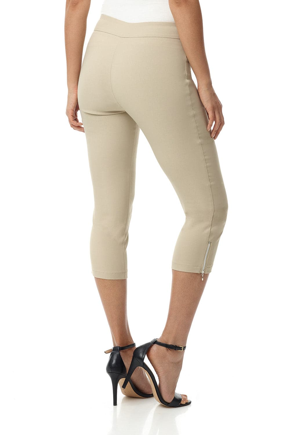 Ease into Comfort Slimming Seamed Capri with Zipper Detail