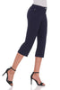 Chic Capris with 5 Pockets and Zipper Closure