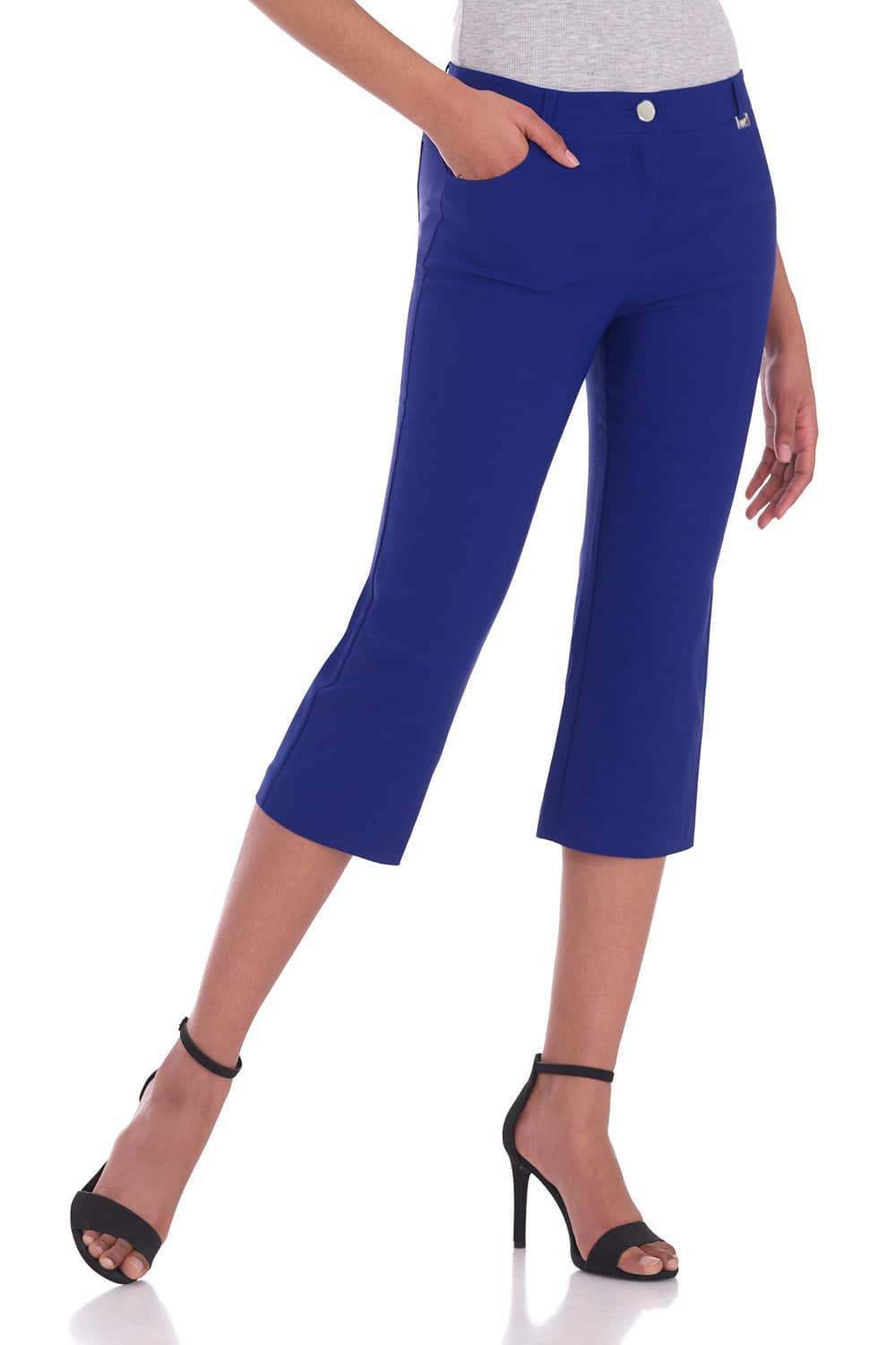 Iconic Comfort Stretch 5 Pocket Easy Fit Capri with Zipper Closure