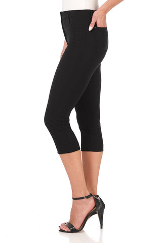 Slimming Capris with 5 Pockets and Zipper Closure