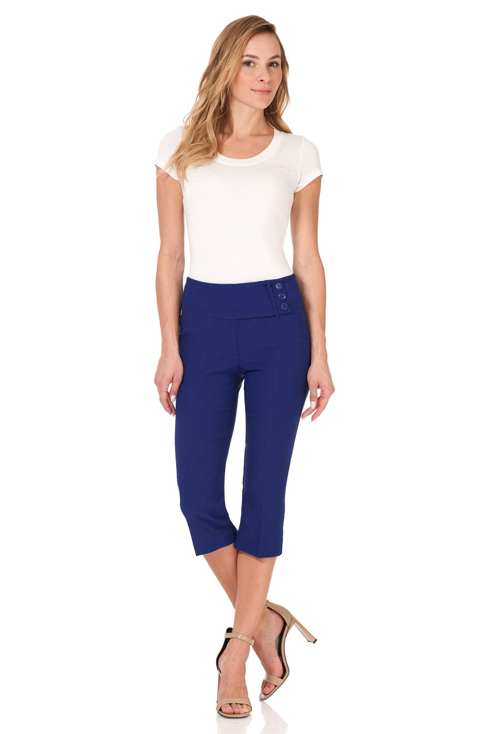 Ease into Comfort Wide Waist Capri with Back Lacing Detail