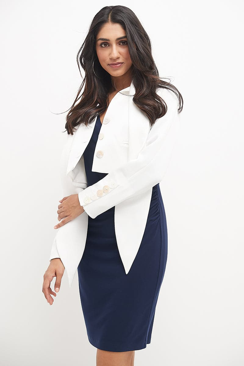 Wrap Dress for Work with Long Sleeves