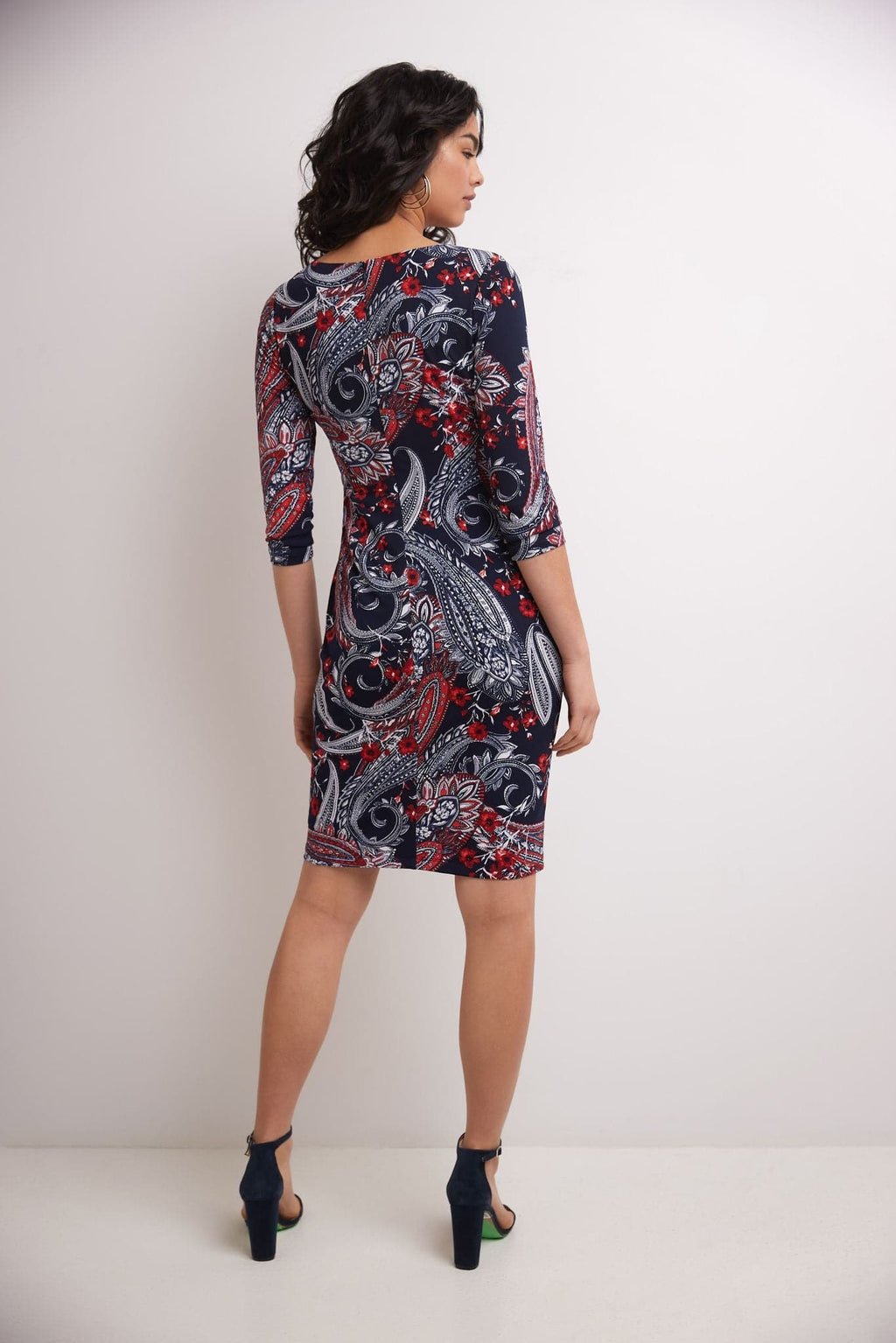 Sheath Dress for Work with 3/4 Sleeves