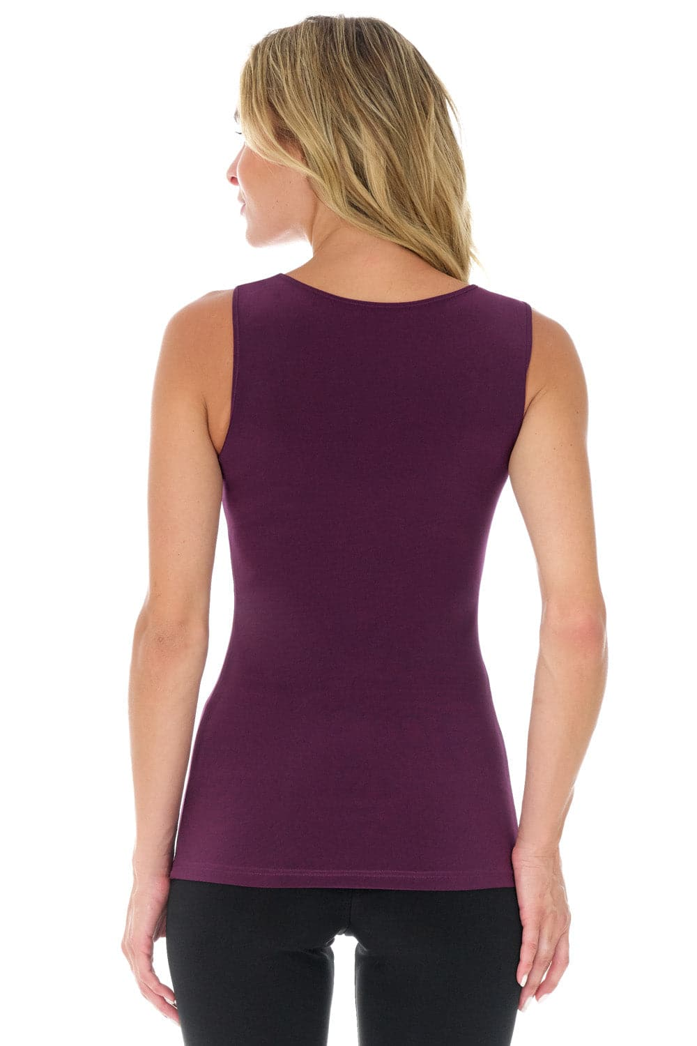 Travel in Rekucci Style - Women's Essential Knit Scoop Neck Sleeveless Top