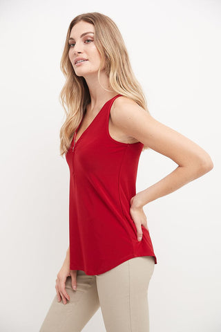 Ultra Soft and Chic Tank w/ Front Zipper Detail