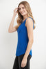 Sleeveless Business Casual Top with Front Zipper