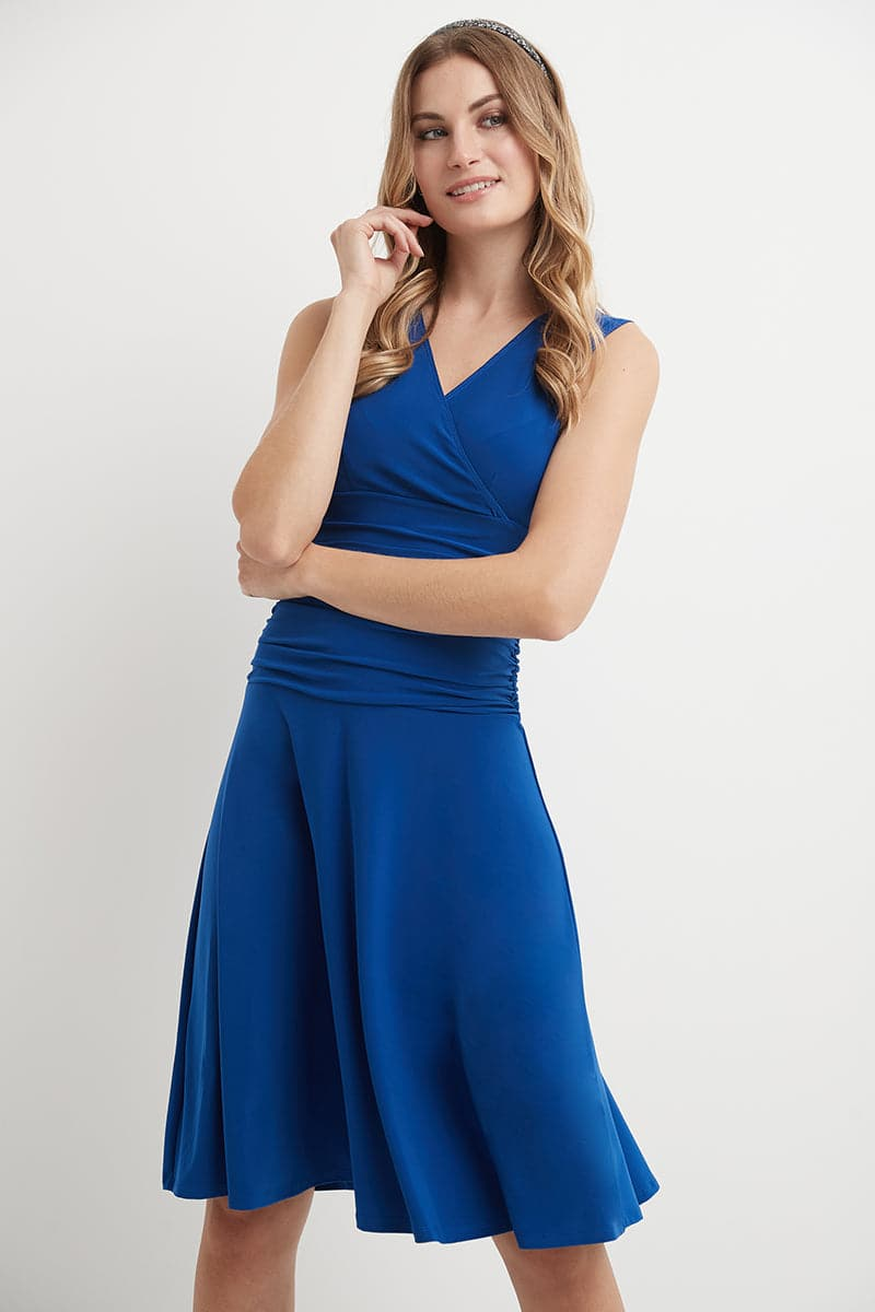 Slimming Sleeveless Cocktail Dress with Tummy Control