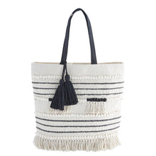 HANDLOOMED TASSEL TOTE BAG by Mudpie