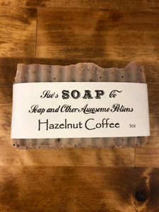 Hazelnut Coffee Exfoliating Soap with coffee grinds