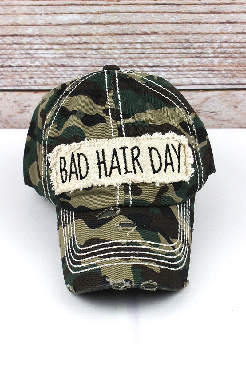 Bad Hair Day distressed hat