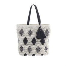 HANDLOOMED TASSEL TOTE BAG