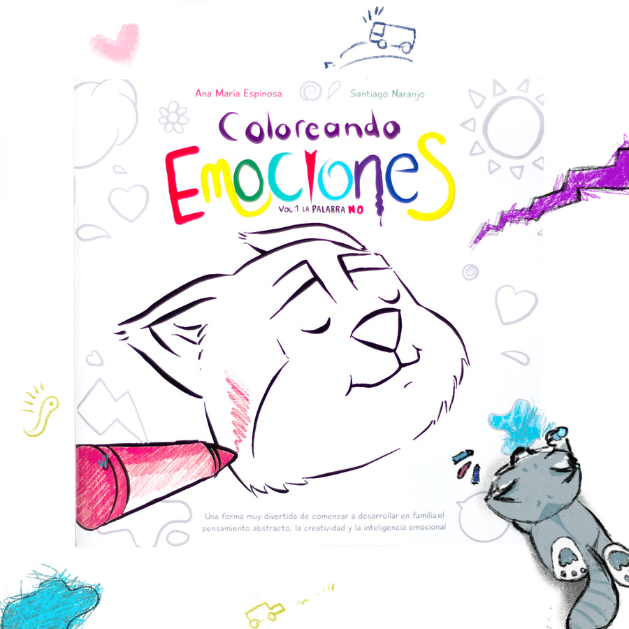 Portada libro, libro, Coloreando Emociones, DayDreams, libro para colorear.
