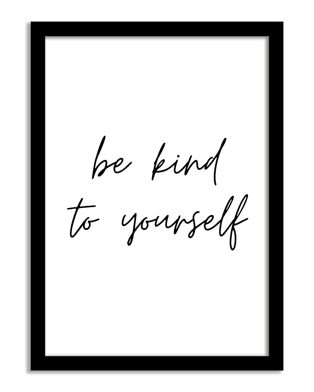 Quotes Framed Print - Be Kind To Yourself