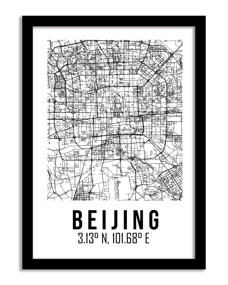 Maps Framed Print - Beijing
