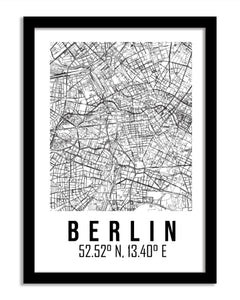 Maps Framed Print - Berlin