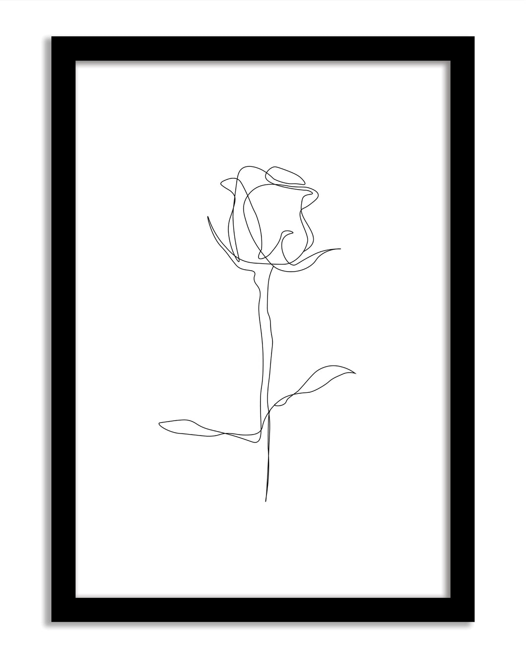 Line Art Framed Print - Rose