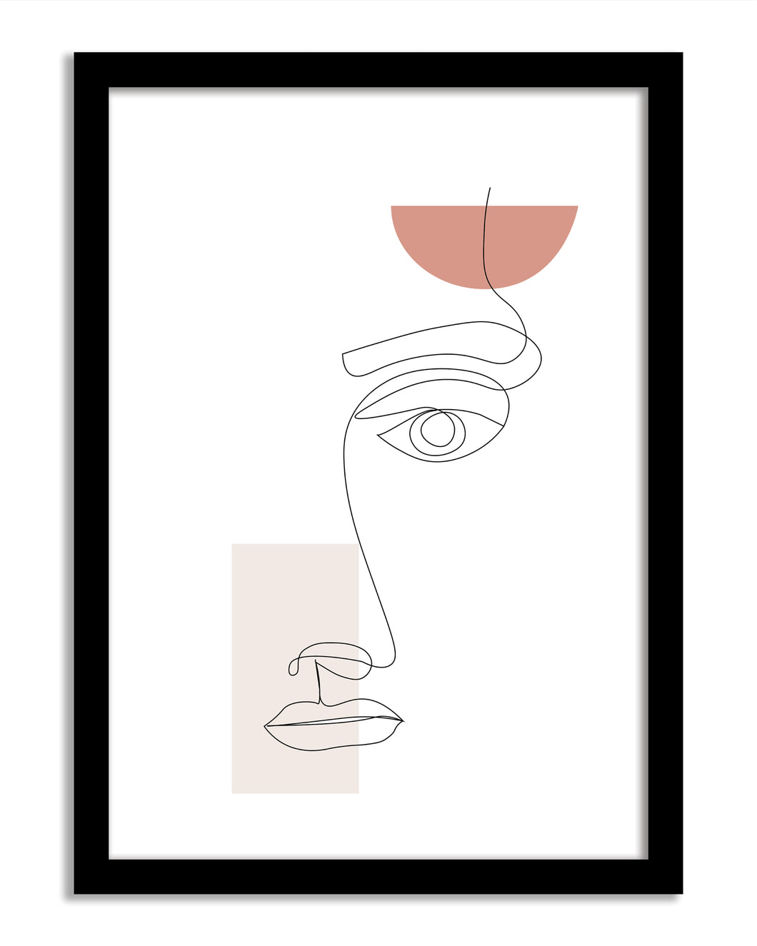 Line Art Framed Print - Samantha