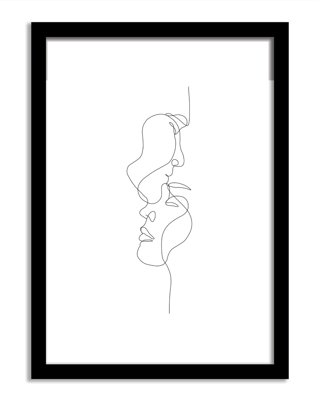 Line Art Framed Print - Companion