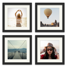 Photo Tiles (Black) - Set of 4