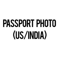 Passport Photo - US/India (Set of 4 photos) - 5.1 x 5.1 cm