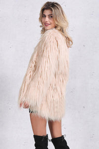 No Fluffy Animals Here Faux Fur Coat