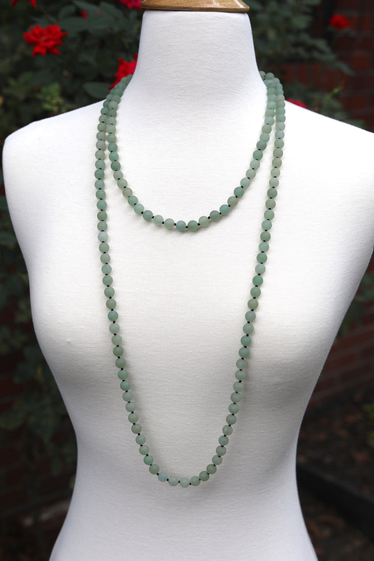 Dress You Up Necklace, Mint Matte