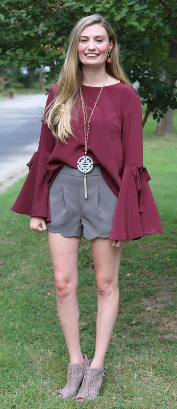 The Amy Scallop Short, Ash Brown