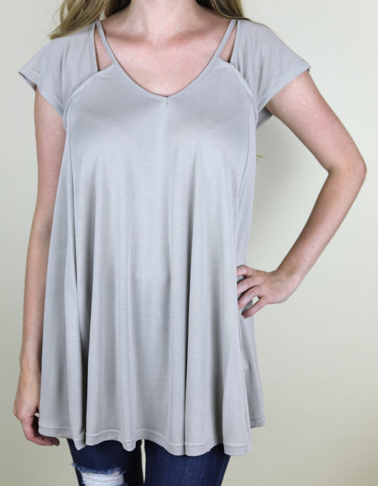 The Alicia Casual Top, Taupe