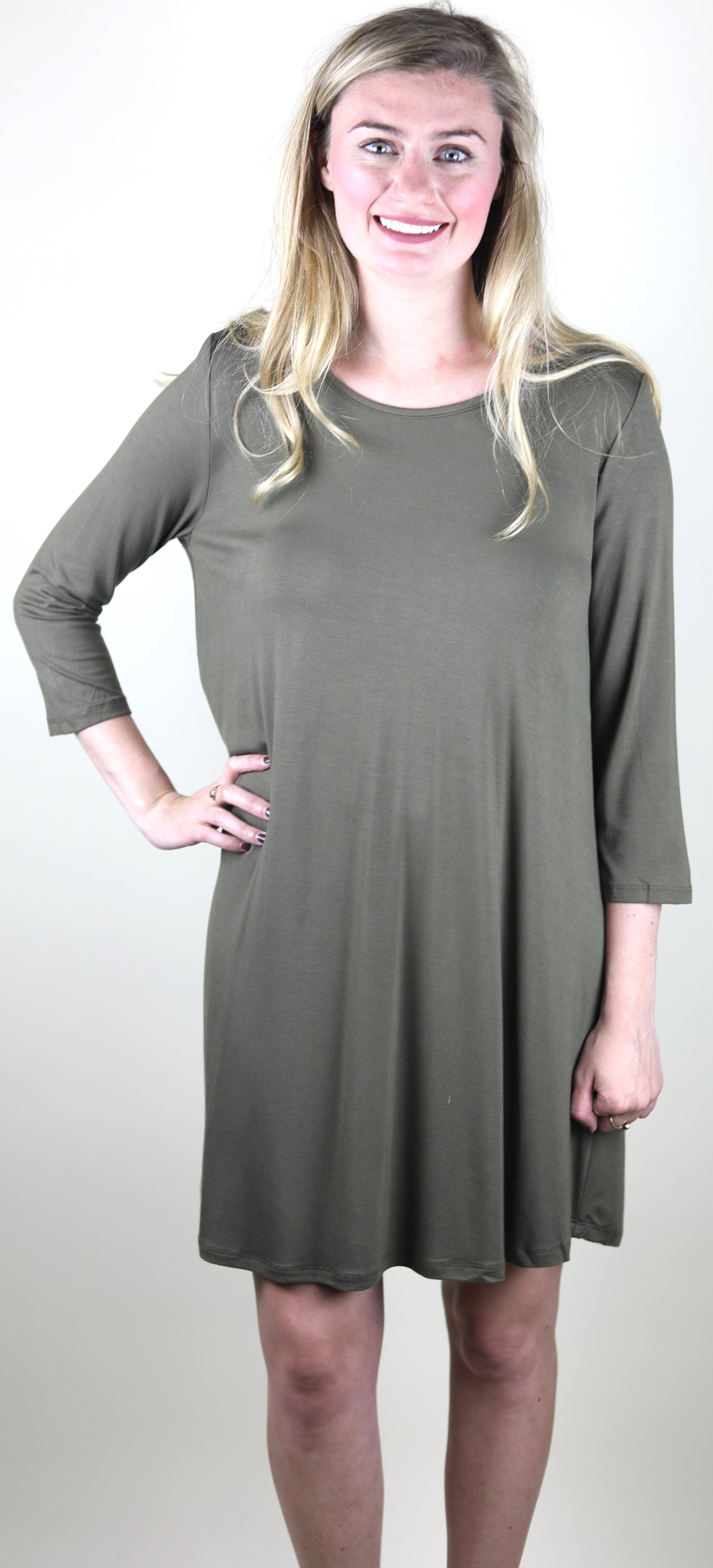 The Amore Dress, Olive