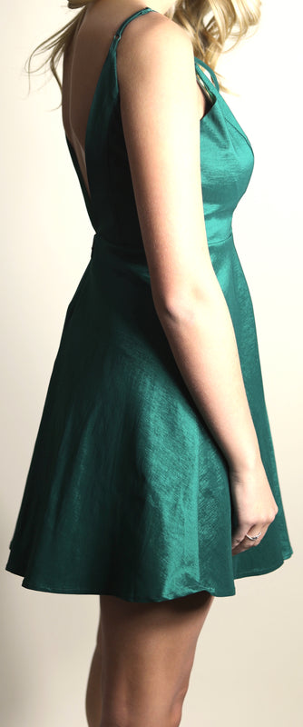 Holidays Forever Party Dress, Emerald Green