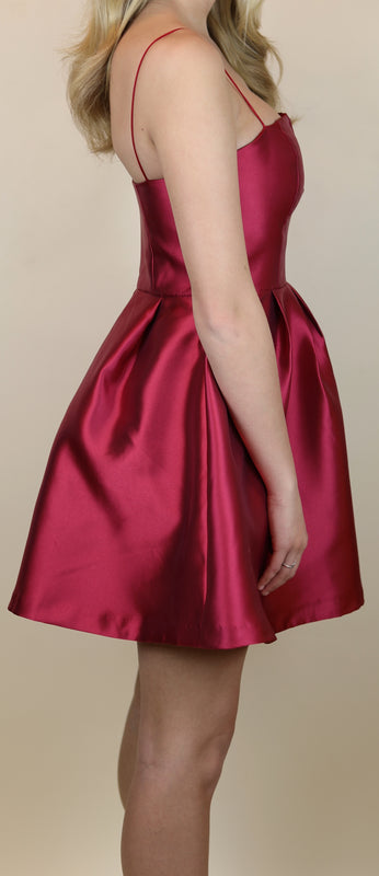 Oxford Party Dress, Light Burgundy