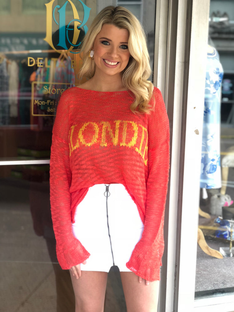 "Judith March ""Blondie"" Open Knit Sweater"