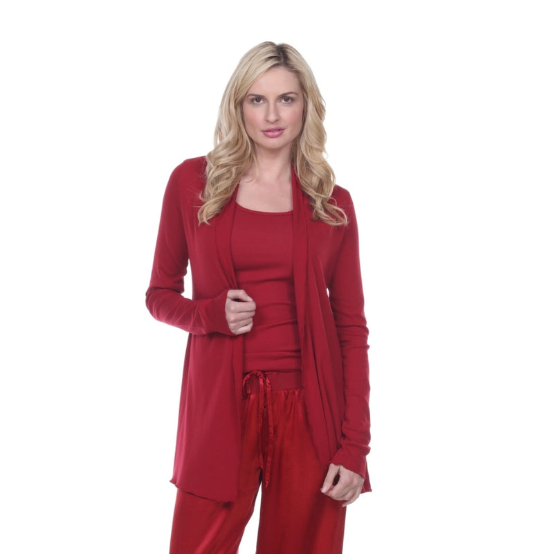 PJ Harlow Amelia Knit Cardigan, Red