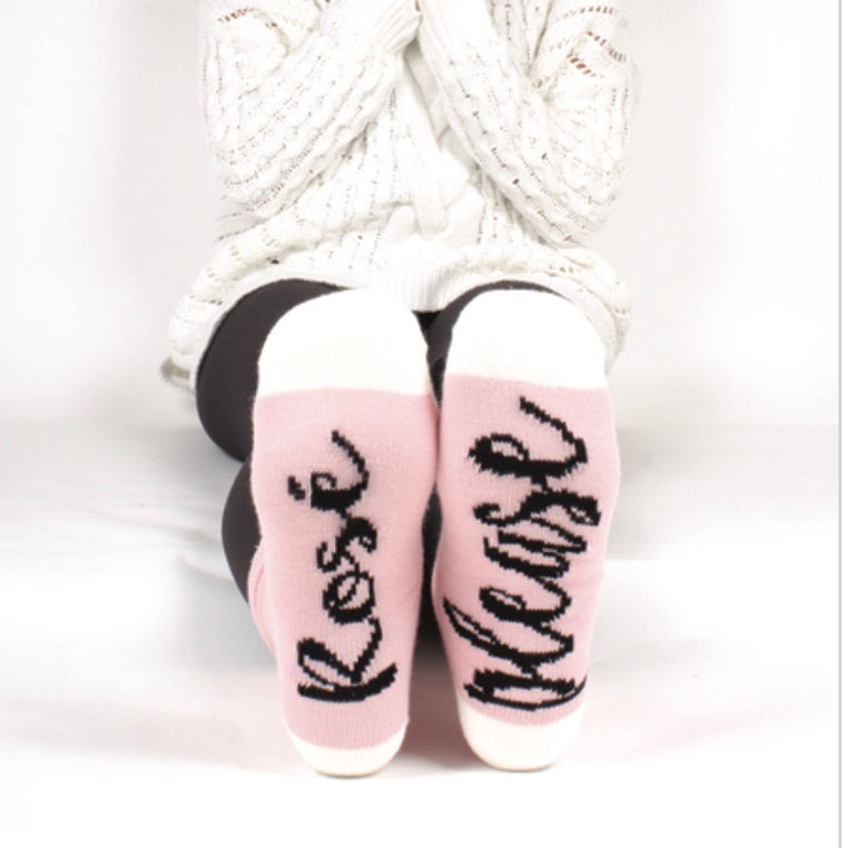 Rosé Please Sock Set